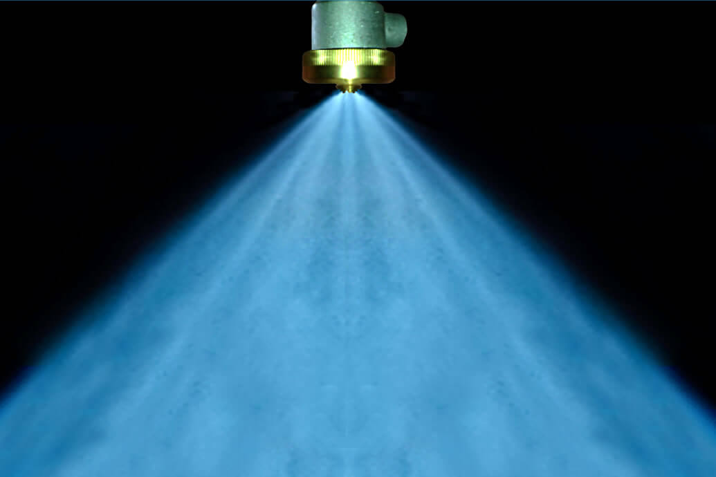 Laser measurements on water mist
