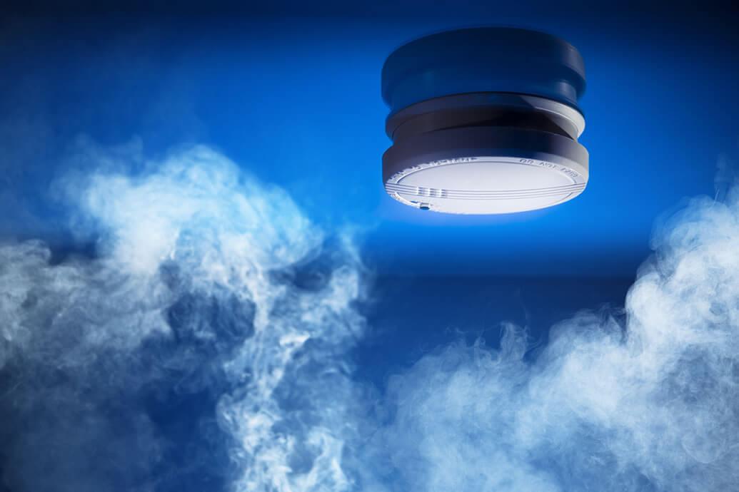 Optical smoke detectors may give a false sense of safety at night