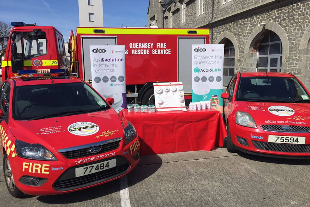 Guernsey Fire & Rescue recommends Aico fire & CO alarms across the island