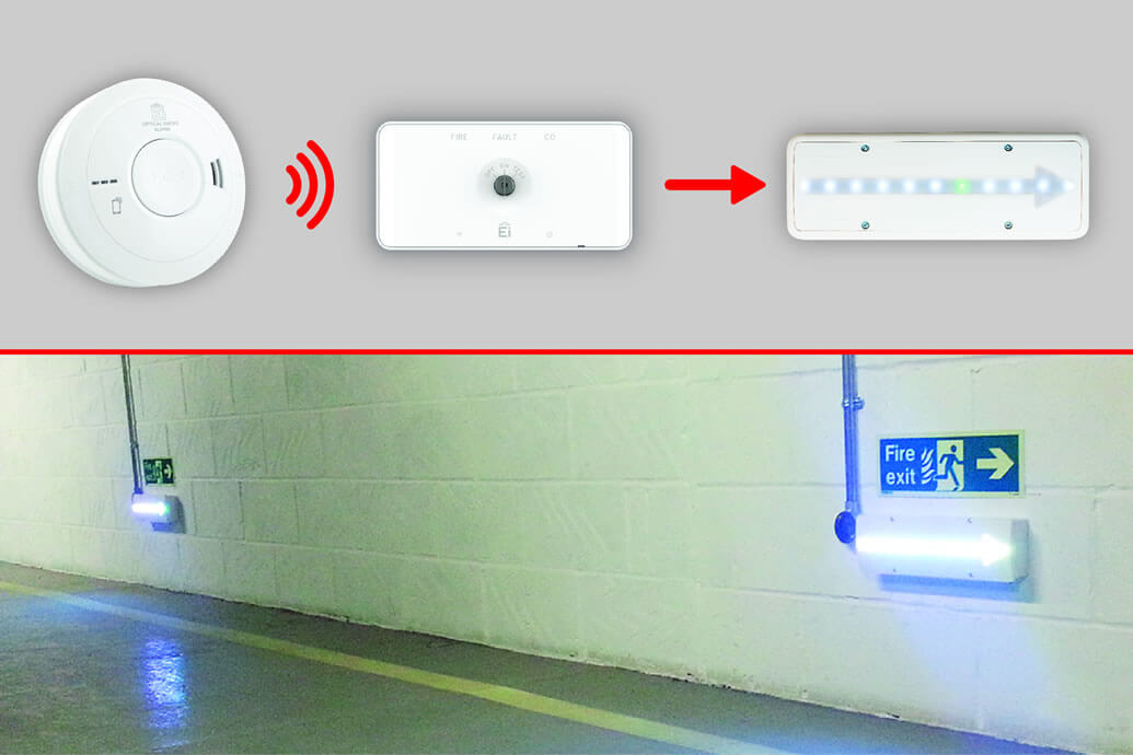 AICO Alarm Interface used in High Risk Fire Safety System
