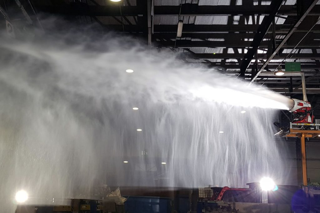 Fire Protection with Water Mist Turbine - FT10e water mist