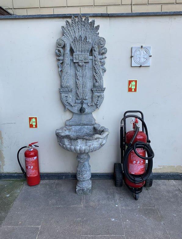 ΜΟΒΙΑΚ firefighting equipment at the Ecumenical Patriarchate of Constantinople