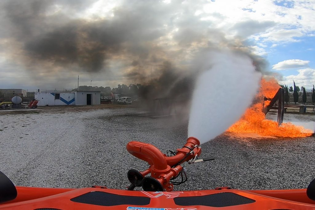 Using robots to assist in firefighting