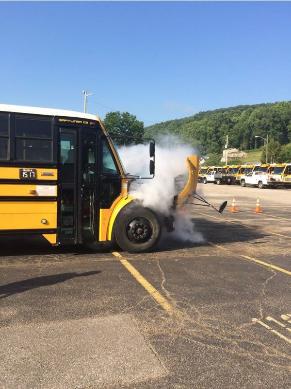 Kanawha County Schools Hosts School Bus Fire Suppression Demonstration