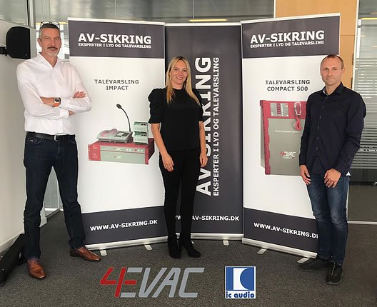 EVAC also continues it's expansion into the Danish market with AV-Sikring
