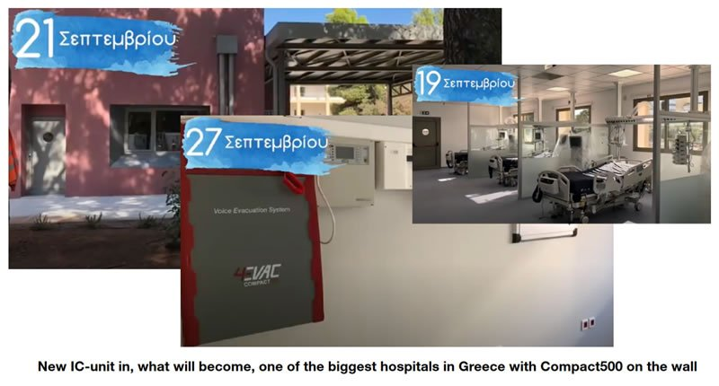 Covid-19 Hospital in Athens Greece with 4EVAC