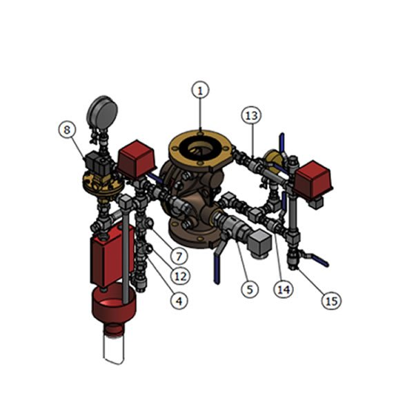 Electro-Pneumatic ON OFF Deluge Valve VD D EP