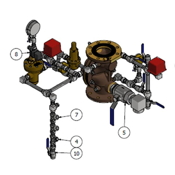 Electro-Pneumatic Pressure Regulating Deluge Valve VD RPOF EP